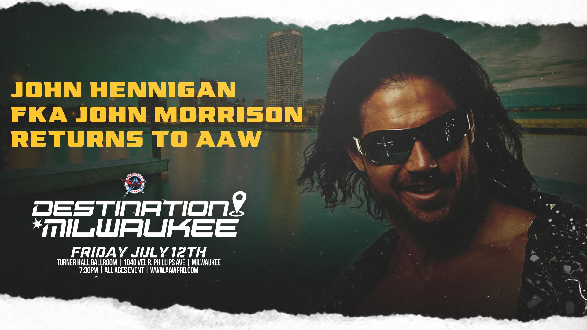 John Hennigan FKA John Morrison Returns At Destination Milwaukee