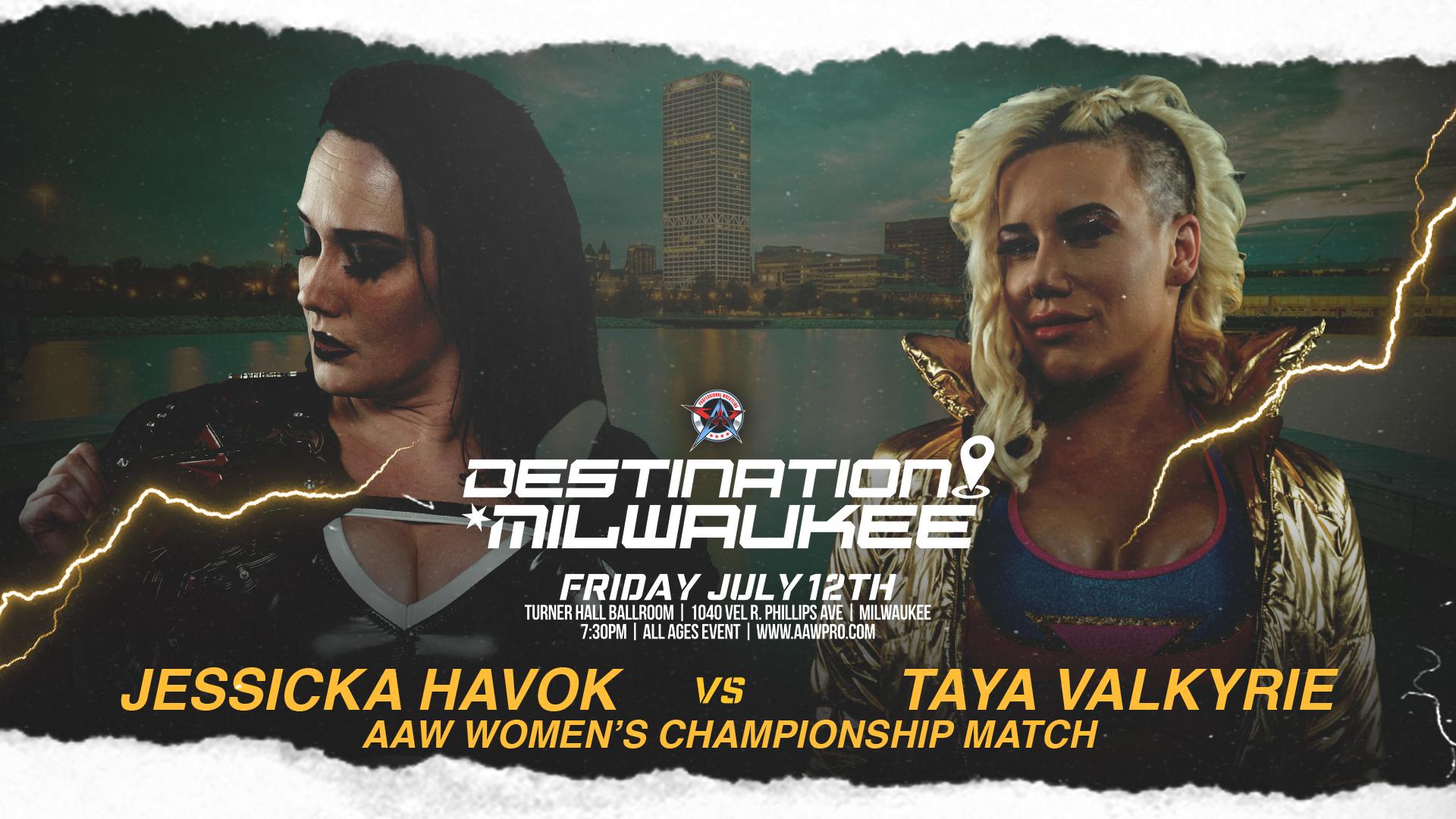 Women's Championship Match Signed for Destination Milwaukee